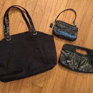 Bundle of bags tote clutch Coach wristlet